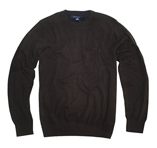Tommy Hilfiger Men's Crewneck Sweater (XX-Large, Chocolate Brown)