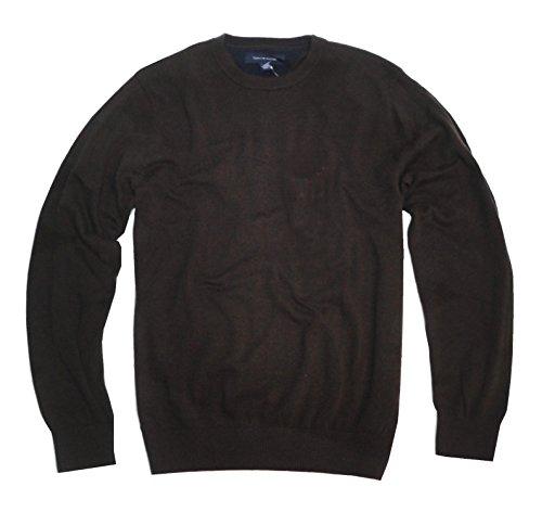 Tommy Hilfiger Men's Crewneck Sweater (XX-Large, Chocolate - Tommy Hilfiger Brown