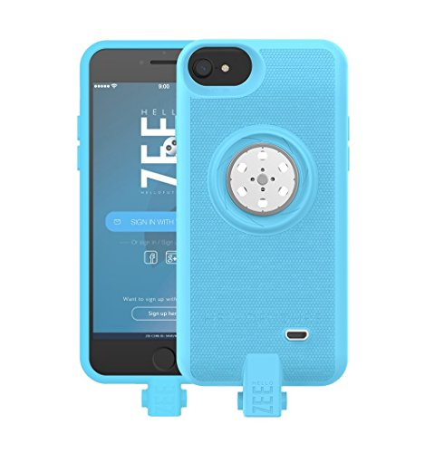 Battery case iPhone 6/6s/7/8- with Built-In 128GB Memory+Battery 2600mAh+Wireless Charging - Blue (Apple Certified) by HELLO ZEE