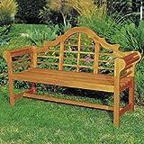 Achla Designs 4-Foot Lutyen Bench, Natural