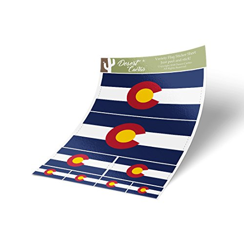 Colorado CO State Flag Sticker Decal Variety Size Pack 8 Tot