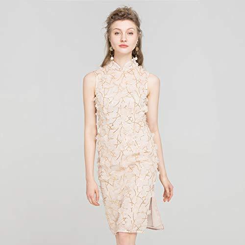 Albicocca Dimensioni In Della Vestito Cheongsam Ragazza originale Fxnn Albicocca Stile colore Da Cinese M wOFff