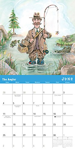 Gone Fishing by Gary Patterson 2017 Wall Calendar