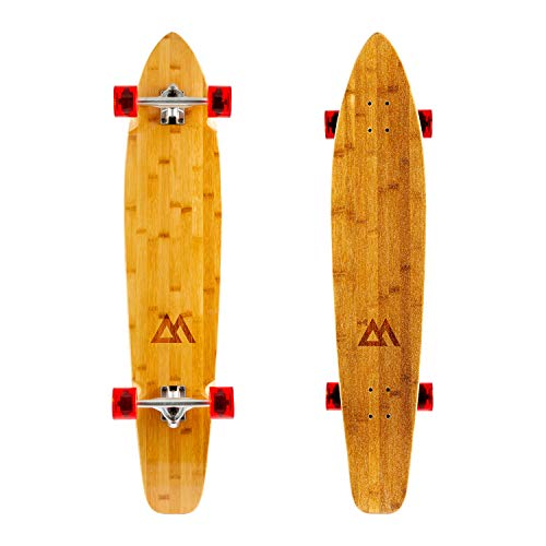 (Magneto 44 inch Kicktail Cruiser Longboard Skateboard | Bamboo and Hard Maple Deck | Made for Adults, Teens, and Kids ...)
