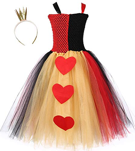 Tutu Dreams Toddler Girls Queen of Hearts Costume Alice in Wonderland Dress Up (Small, Queen of Hearts) …