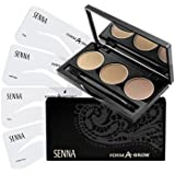 Senna Cosmetics Form-A-Brow Stencil Kit, Ash Blonde