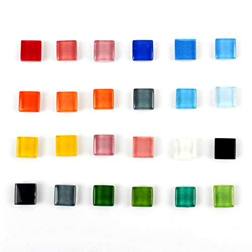Office Magnets Kitchen Magnets Refrigerator Magnets Fridge Magnets for Whiteboard Multicolor Square Glass Colorful Cute Fun Decoration (Glass)