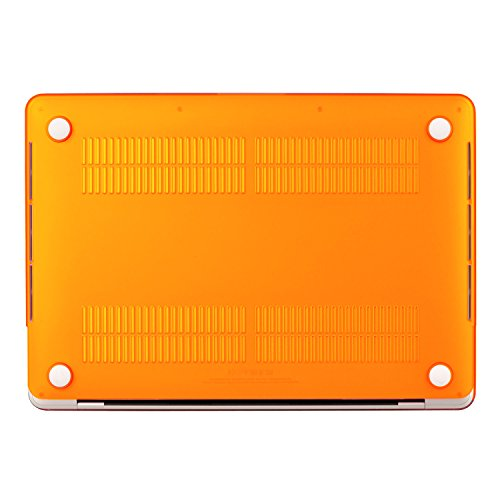 UESWILL MacBook Pro 13 inch Case 2018 & 2017 & 2016 Release, A1989/A1706/A1708, Matte Hard Case Cover for Newest MacBook Pro 13 inch with/Without Touch Bar Touch ID, Orange by UESWILL (Image #6)