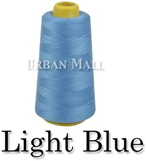 product image for 6000 Yards Light Blue Sewing Thread All Purpose 100% Spun Polyester Spools Overlock Cone (Upholstery, Canvas, Drapery, Beading, Quilting)