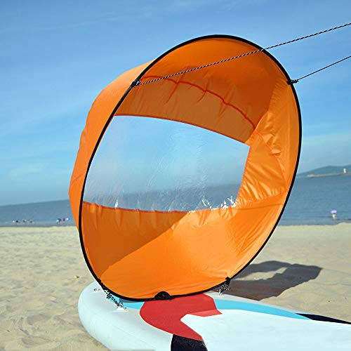 YWEHAPPY Kayak Boat Wind Paddle Sailing Kit Popup Board water sports Sail Rowing Downwind Boat Windpaddle with Window…
