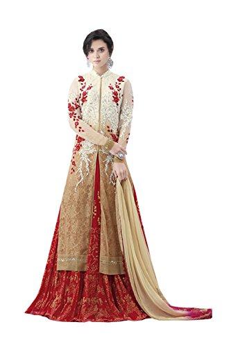 IWS Indian Women Designer Wedding red Lehenga Choli K-4529-39523