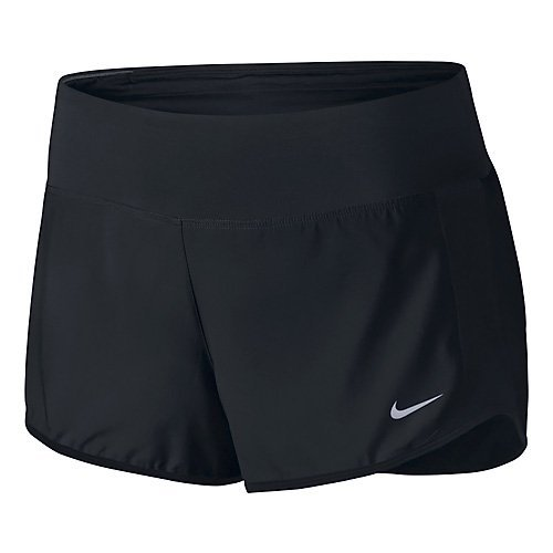 Women's Nike Crew Dry Running Short Black/Reflective Silver Size Medium (3 Pack) by NIKE