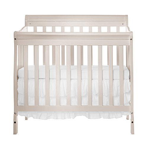 Crib French (Dream On Me Aden Convertible 4-in-1 Mini Crib, French White)