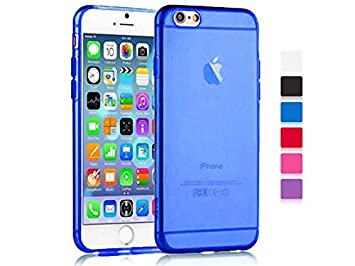 coque iphone 6 silicone transparente bleu