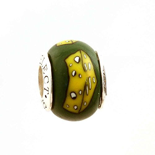 WI Wisconsin Swiss Cheese Head Beads/Charm .925 Sterling Silver Fits all Add-a-Bead European Charm Bracelets AUTHENTIC MADE IN THE USA by MAYselect