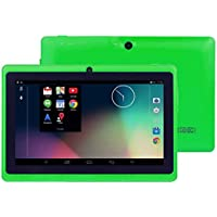 Hometom Tablet PC, 7 Tablet Android 4.4 Quad Core HD 1080x720, Dual Camera Blue-Tooth Wi-Fi, 8GB 3D Game Supported
