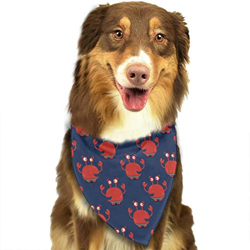CWWJQ88 Crabs Pattern Pet Dog Bandana Triangle Bibs Scarf - Easy to Tie On Your Dogs & Cats Pets Animals - Comfortable and Stylish Pet Accessories]()