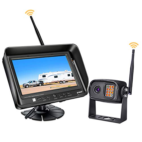 Digital Wireless Backup Camera System Kit, IP69K Waterproof Wireless Rear View Camera + 7'' LCD Wireless Reversing Monitor for Trailer, RV, Bus, Trucks, Horse-trailer, School Bus, Farm Machine,etc
