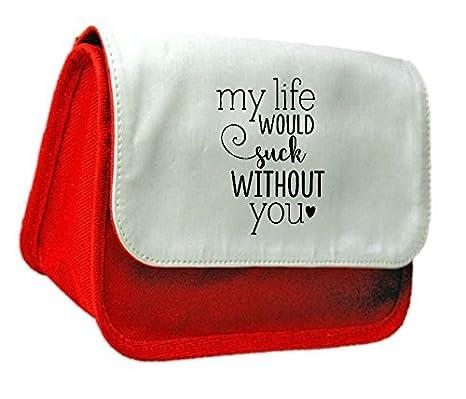 Mi Vida Que Suck sin You declaración embrague bolsa o estuche, color rosso talla única: Amazon.es: Oficina y papelería