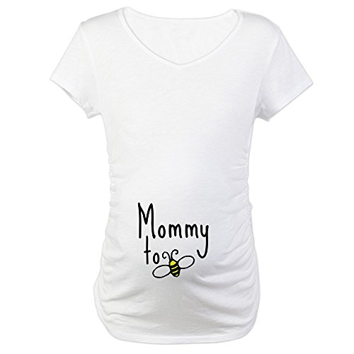 CafePress Mommy to Bee Cotton Maternity T-Shirt, Cute & Funny Pregnancy Tee -