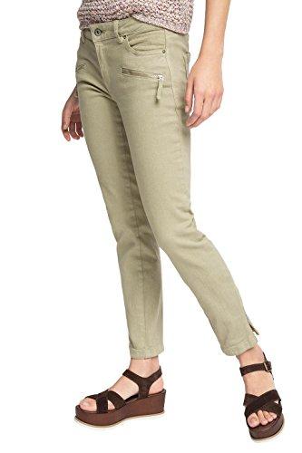 edc by Esprit Verkürzt, Pantalones para Mujer Green (LIGHT KHAKI 345)