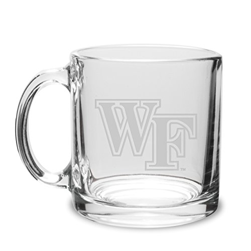 CC Glass Wake Forest Demon Deacons Deep Etched 13 oz. Clear Coffee Mug