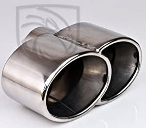 Amazon.com: Exhaust Muffler Tip Quad Fused Oval Rolled