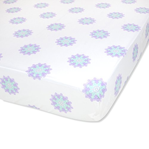 Wendy Bellissimo Nursery Bedding Baby Crib Bedding Fitted Sheet 200 Thread Count - Anya Medallion