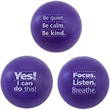 Motivational Stress Ball Assortment, 3 Pack, Teacher Peach Stress Relief Toys for Kids and Adults (7 Colors Available)