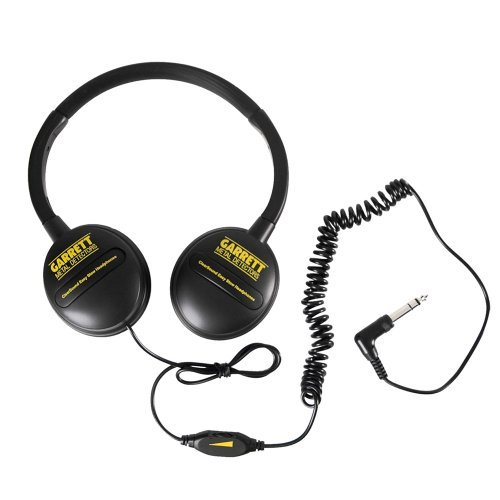 Garrett Headphone (Garrett ClearSound Easy Stow Headphones with In-Line Volume for Metal Detectors)