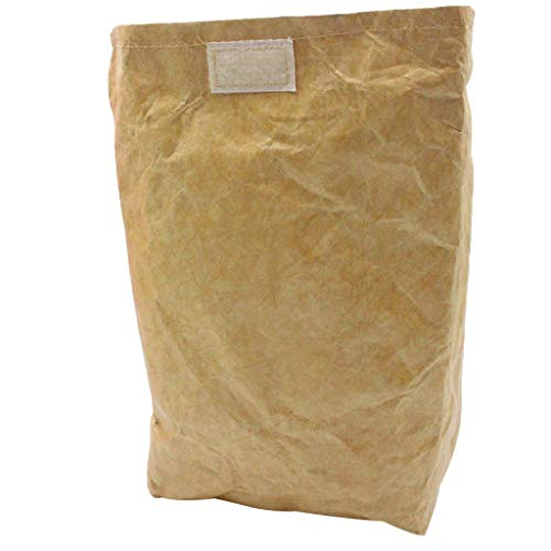 telaite Portable Kraft Paper Lunch Bag Environmental Protection Can Be Dissolved Lunch Box(Brown)