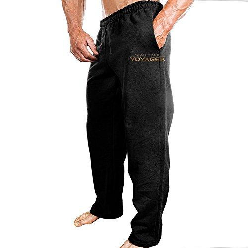 MUMB Men's Training Pants Star Trek Vintage Logo Black Size L