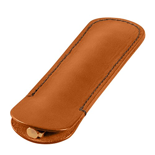 Leather Pen Sleeve, Bridle Cowhide Leather, Tan, Handmade