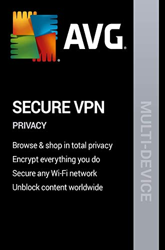 AVG Secure VPN 2020 | 5 Devices, 2 Years [PC/Mac Online Code] (Best Vpn For Windows 8)