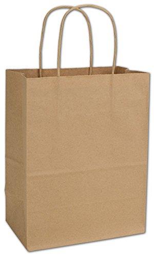Kraft Paper Shoppers Cub, 8 1/4 x 4 1/4 x 10 3/4