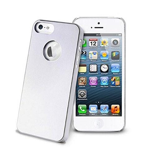 COQUE iPHONE 5, iPHONE 5S - Effet Aluminium Chrome BRUSH Argentée