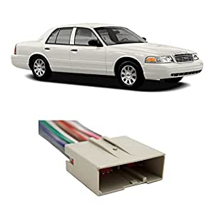 amazon com fits ford crown victoria 2003 2010 factory to ford stereo wiring harness diagram police interceptor wiring harness #24