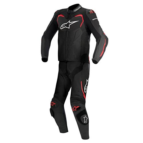 Alpinestars GP Pro Men's 2-Piece Street Motorcycle Race Suits - Black/Red / 52