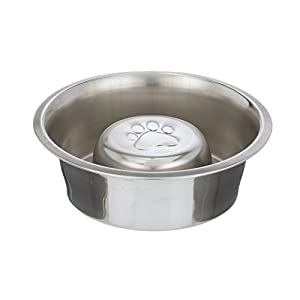 Neater Pet Brands Slow Feed Bowl Stainless Steel - Standard Bowls Fit Elevated Feeders 4
