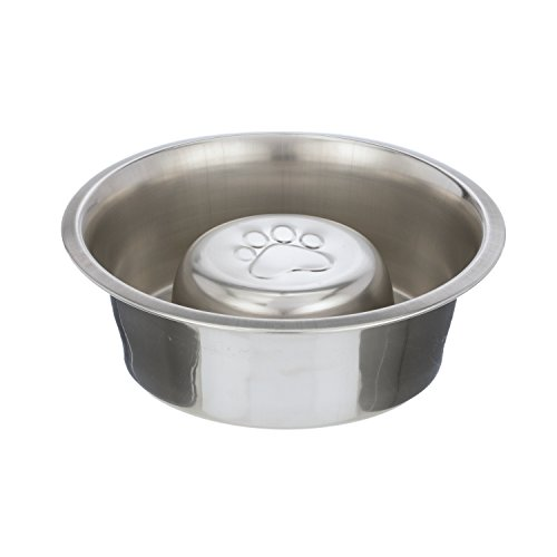 NEATER PET BRANDS Slow Feed Bowl by Stainless Steel - Stop Dog Food Gulping, Bloat and Rapid Eating - Fits in Large Neater Feeders and Most Elevated Feeders - Steel Feed
