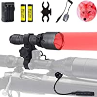 BESTSUN 3Pcs Red LED Hunting Light 350 Yards Predator...