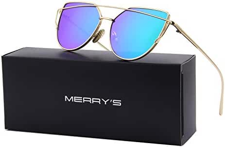 MERRY'S Fashion Women Cat Eye Sunglasses Coating Mirror Lens Sun glasses UV400 S7882