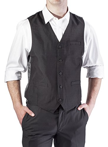 Alberto Cardinali Men's Solid Color Suit Separate Vest V101B (Xlarge (Vest Color)