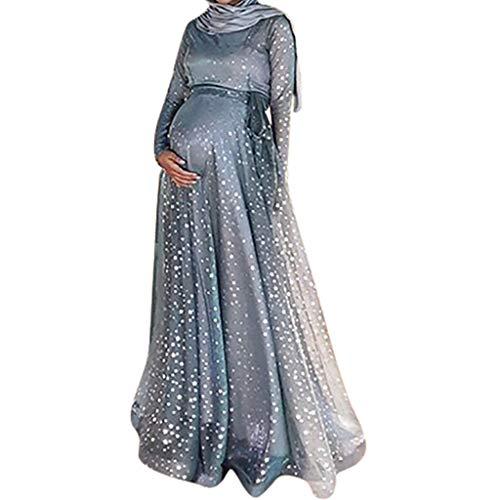 Outique Women Maternity wear Long Dress Slim Fit Plus Size Loose Elegance Maternity Floor-Length Dress Evening Dress -