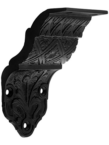 House of Antique Hardware R-010SE-0700090 Ornate Victorian Cast Iron Handrail Bracket in Matte Black