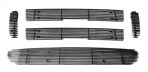 (MaxMate Fits 01-05 Ford Explorer Sport/Sport Trac 5PC Combo Horizontal Billet Polished Aluminum Grille Grill Insert)