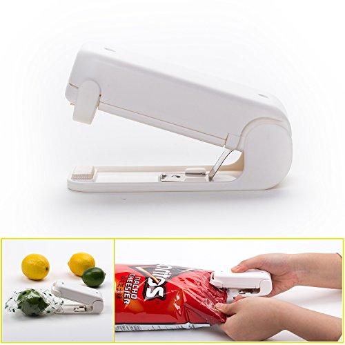 Portable Mini Bag Heat Sealer - Heat Press Machine for Sealing & Resealing Food Storage, Chips, Candy, Snacks, Groceries, Plastic Bags - Battery Operated Food Snacks Resealer