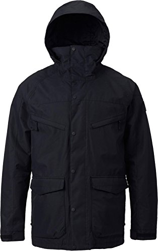 Burton Men's Breach Jacket, True Black/True Black Wax, Small