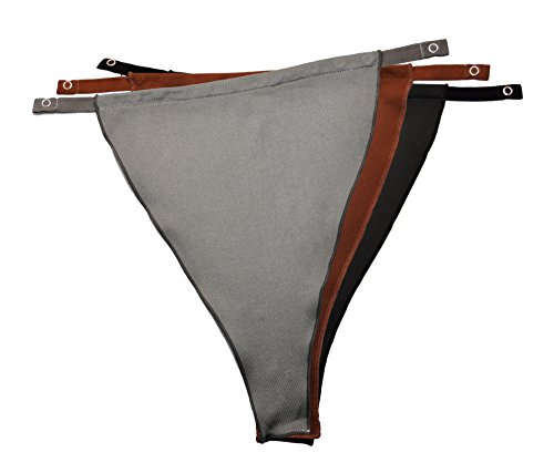 nal Snappy Cami ® (828) - Classic NO LACE (Solid) - Set of 3 [Black, Gray and Brown] ()