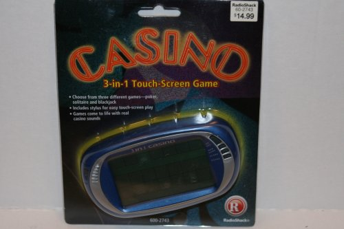 Radioshack Casino 3-in-1 Touch Screen Game (Solitaire, Poker, and Blackjack) with Stylus Blackjack Touch Screen